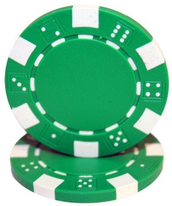 """Picture of 12802-""""Dice"""" roll of 50 pcs  (11,5gr) - Green"""