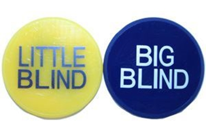 "Picture of 10803-Buttons ""Big & little Blind"" -2 POUCE"