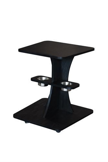 Image sur casinopokercaddy with cups on shelf-Casino Poker caddy with cup holders under the top