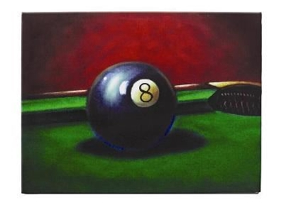 Image de OP203-OIL PAINTING-8 BALL