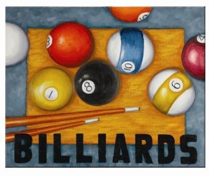 Image de OP945-OIL PAINTING-BILLIARDS