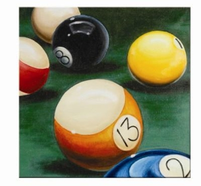 Picture of OP944-OIL PAINTING-LUCKY NUMBER 13