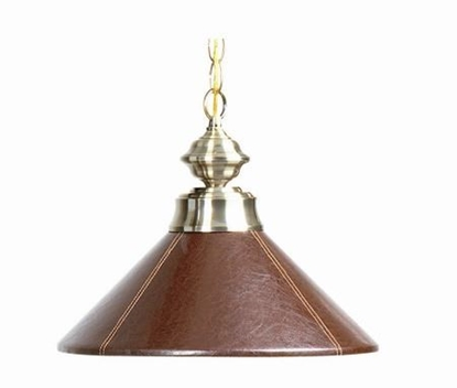 Picture of B14LTHRBRN-SINGLE PENDANT