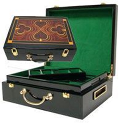 Picture of 13201-Wooden Poker chips case (cap 500pcs)
