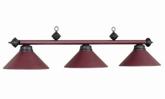Picture of 61011- Billiard lamp full metal shade ''Cherry''