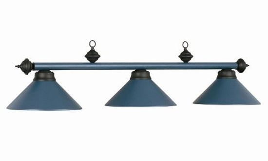 Image sur Lampe de billard en métal - Bleue