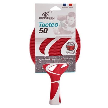 Image de Raquette de Ping Pong  TACTEO T50 Rouge & blanche