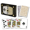Picture of DuoPack Copag 100% plastic - Gold & Black - Poker - Regular index