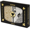 Picture of 11221-DuoPack Copag 100% plastic - Gold & Black - Poker - Jumbo  index