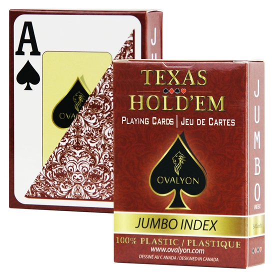 Picture of 11173 -Single deck / Ovalyon / Poker size / Jumbo index / RED