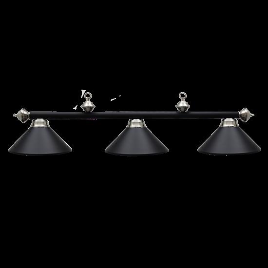Image sur Lampe de billard en métal - Noir Mat et inox