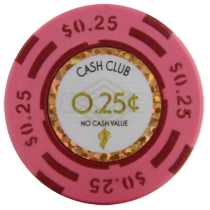 "Picture of 12788-Poker Chip ""Cash Club""  14gr -Value of $0.25- (bulk)"