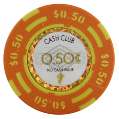 "Picture of 12789-Poker Chip ""Cash Club""  14gr -Value of $0.50- (bulk)"