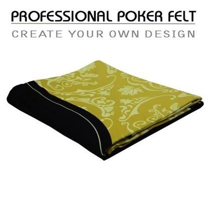 Picture of 17701P - Custom Professional UltraTek gaming suede poker felt