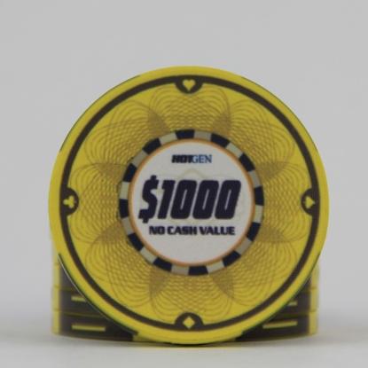 Image de Jeton Céramique 10gr -HotGen 500$ / Rouleau 25