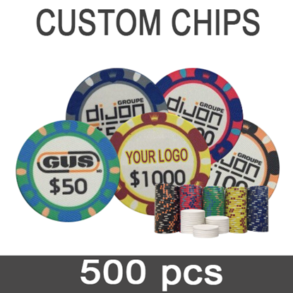 Picture of 12603 - 500 Custom Professional ceramic poker chips 10gr