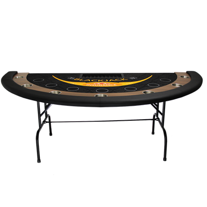 Picture of 22224-BLACKJACK TABLE WITH FOLDING LEGS (With casino Felt)