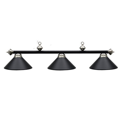 Picture of L261006- Billiard lamp full metal shade '' Matte Black & SS""