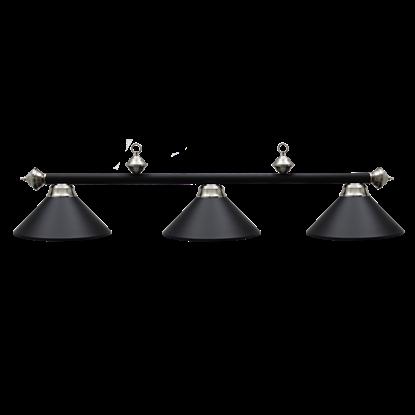 Image de Lampe de billard en métal - Noir Mat et inox - USAGE TRES BONNE CONDITION