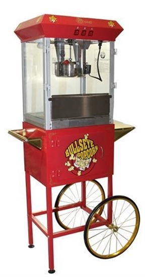 Picture of L271300- Red Oscar Popcorn machine 8oz. with cart USED-VERY GOOD