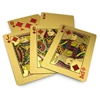 Picture of 10040 - Decorative golden plated playing card 24K with wooden box