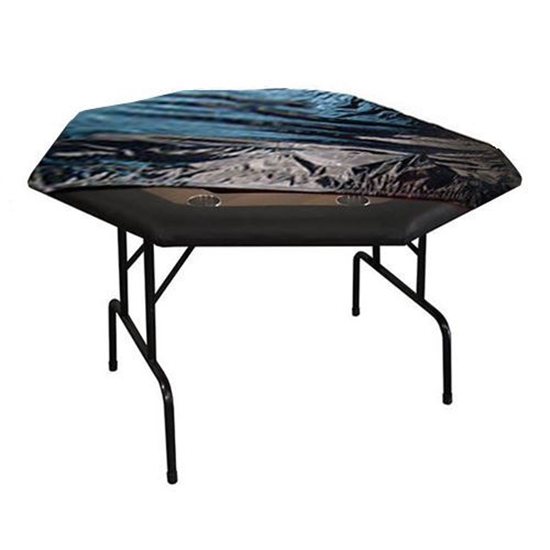 """Picture of Nylon Protective cover for Octagon 48'X48"""" poker table"""