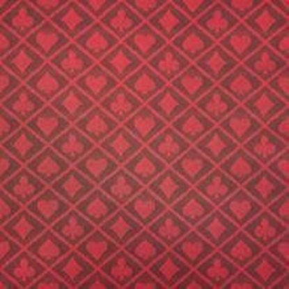 Picture of 19122-Blackberry Red Two-Tone Poker Table Speed Cloth