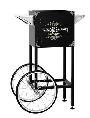 Image de 71610 - Popcorn machine cart for 8oz machine BLACK Snack Station