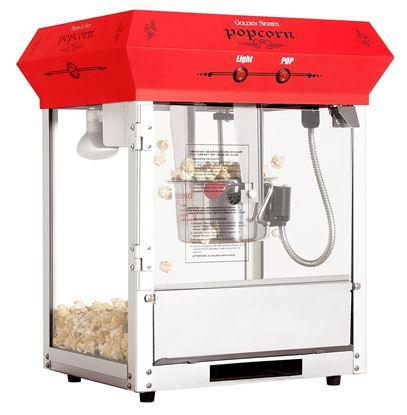Image de 71150-Machine à popcorn 4 oz de table Rouge Golden