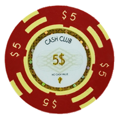 "Picture of 12791-Poker Chip ""Cash Club""  14gr -Value of $5- (bulk)"