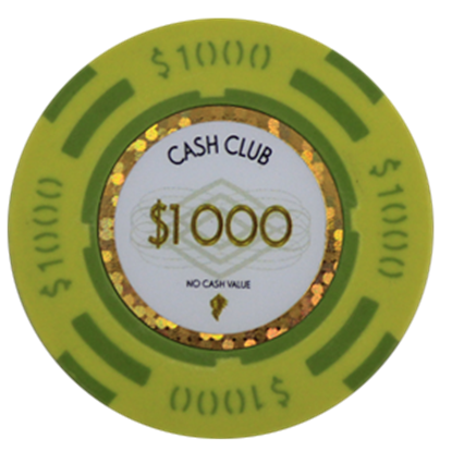 "Picture of 12796-Poker Chip ""Cash Club""  14gr -Value of $1000- (bulk)"