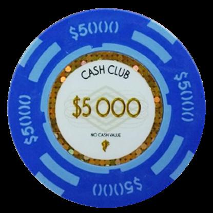 "Image de Jetons ""Cash Club""  14gr -Value of $5000- (bulk)"