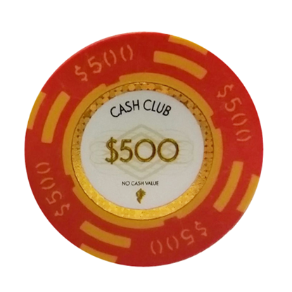 "Picture of 12795-Poker Chip ""Cash Club""  14gr -Value of $500- (bulk)"