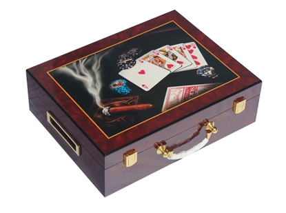 Picture of 13205-Wooden CARDS chips case  (cap 500pcs)