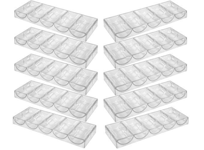 Picture of 10204-1-Pack of 10 Clear Acrylic Poker Chip Tray (cap 100)