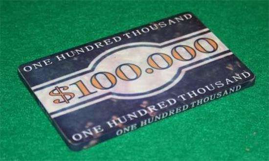Image sur Plaque VEGAS 100,000$