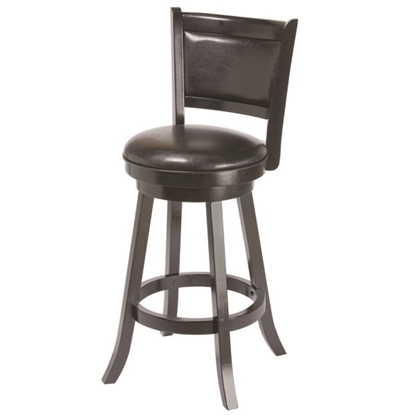 Picture of BBSTL BLK | BACKED BARSTOOL - BLACK