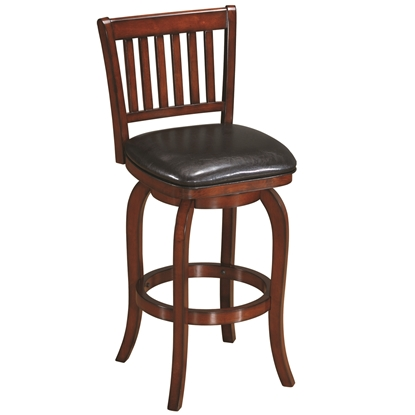 Picture of BBSTL2 CN | BACKED BARSTOOL SQUARE SEAT - CHESTNUT