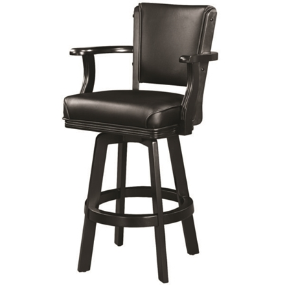 Image de BSTL2 BLK | SWIVEL BARSTOOL WITH ARMS-BLACK