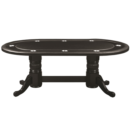 "Image de GTBL84 BLK | 84"" TEXAS HOLD'EM GAME TABLE - BLACK"