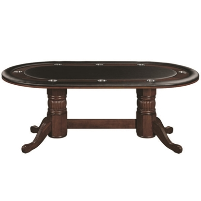 "Image de GTBL84 CAP | 84"" TEXAS HOLD'EM GAME TABLE - CAPPUCCINO"