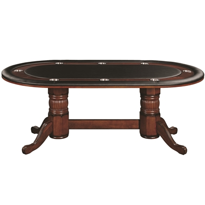 "Image de GTBL84 CN | 84"" TEXAS HOLD'EM GAME TABLE - CHESTNUT"