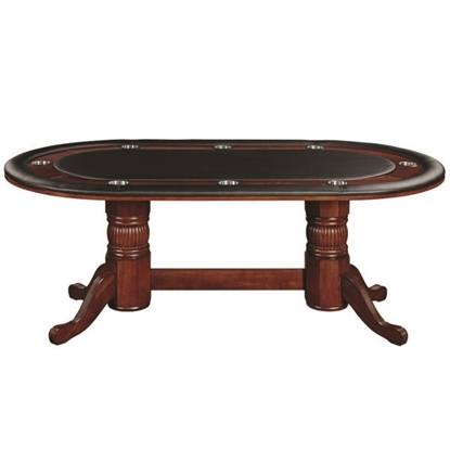 "Image de GTBL84 ET | 84"" TEXAS HOLD'EM GAME TABLE - ENGLISH TUDOR"