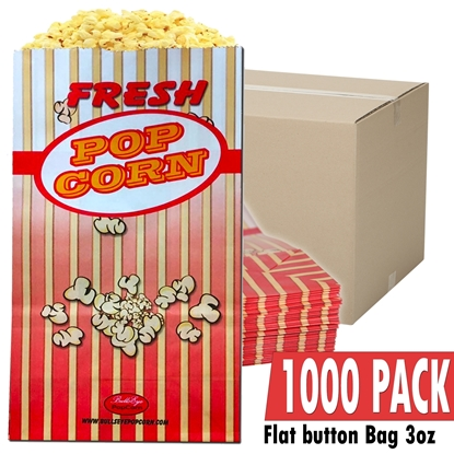 Picture of 70052-Case of 1000 Popcorn bag 3oz / Flag bottom