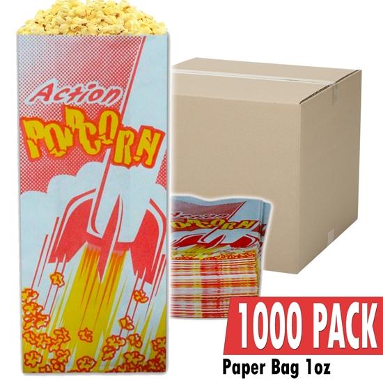 Image sur 70001-Case of 1000 empty 1oz popcorn bags