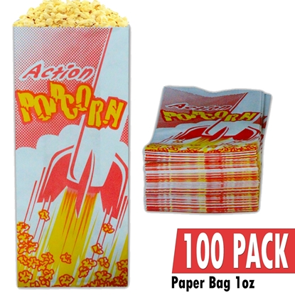 Image de 70001-100 Case of 100 empty 1oz popcorn bags