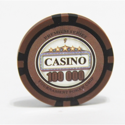 Picture of 12892-CASINO poker chips 14gr / 100 000