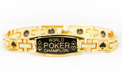 Image de 100392 -  Anti-Fatigue Gold Poker Bracelet