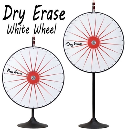Picture of V240036 - 36 INCH DRY ERASE WHITE PRIZE WHEEL WITH BONUS EXTENSION BASE