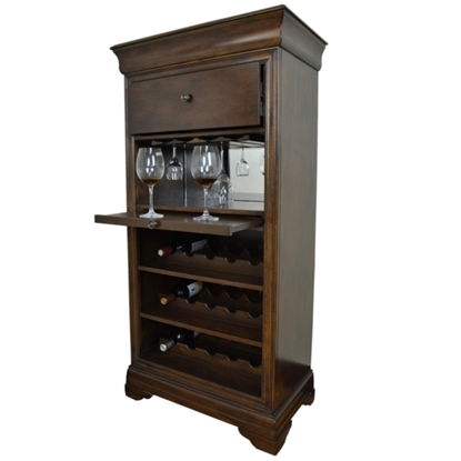 Picture of BRCB2  | BAR CABINET W/ WINE RACK